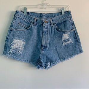 VTG Wrangler Women's Distressed Cutoff Shorts